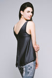 Hi-Lo Double-Layer Tank - Sedate Charcoal
