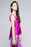 Hi-Lo Double-Layer Tank - Vibrant Electric Orchid