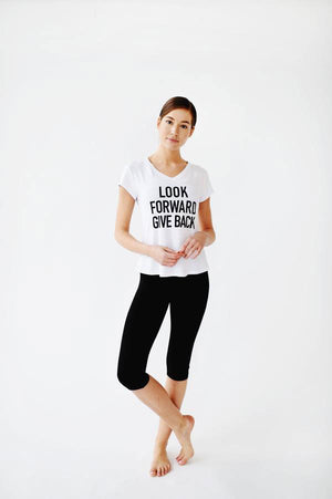 Joriki Yoga Give Back Mantra Tee - Available in 3 Colors Women's Tee