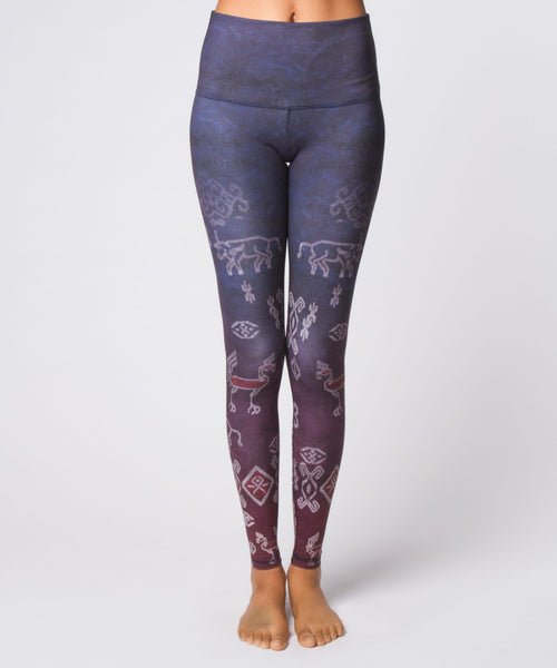 Ikat Ombre High Waist Legging