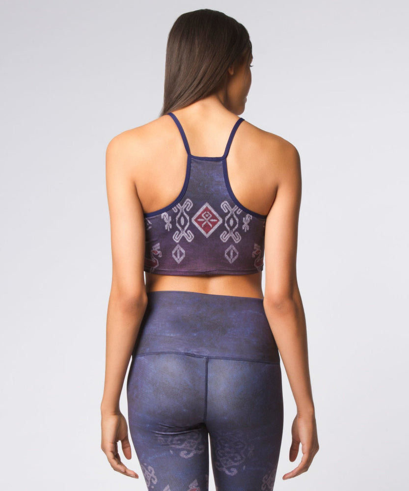 Yoga Democracy Sports Bra Ikat Ombre Top