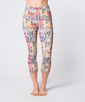 Joriki Yoga Graffiti Panda High Waist Crop Leggings