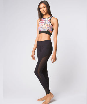 Joriki Yoga Graffiti Panda Slash Band Top Sports Bras