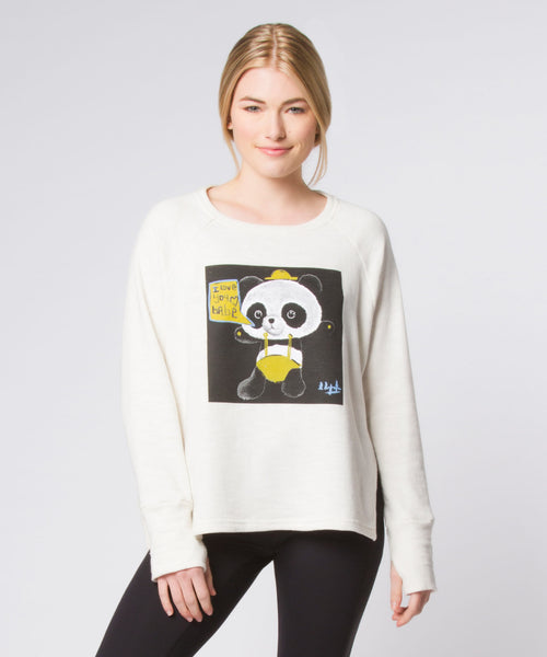 Cream Graffiti Panda Sweatshirt
