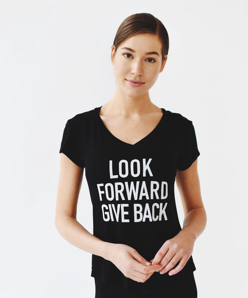 Give Back Mantra Tee in Black