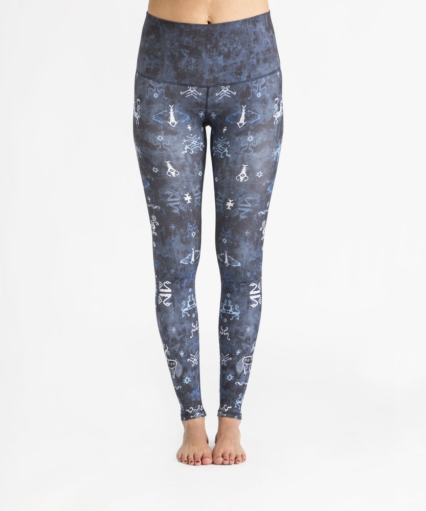 Ikat Indigo High Waist Legging