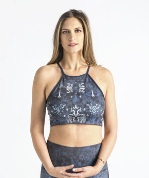 Joriki Yoga Ikat Indigo Top Sports Bra