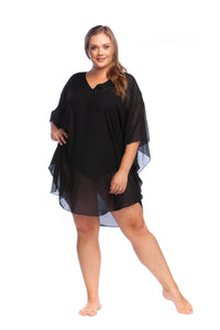 Sheer Black Swimwear Tunic