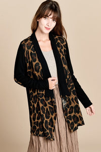 It's A Wrap Animal Print Cardigan w/ Elbow Patch