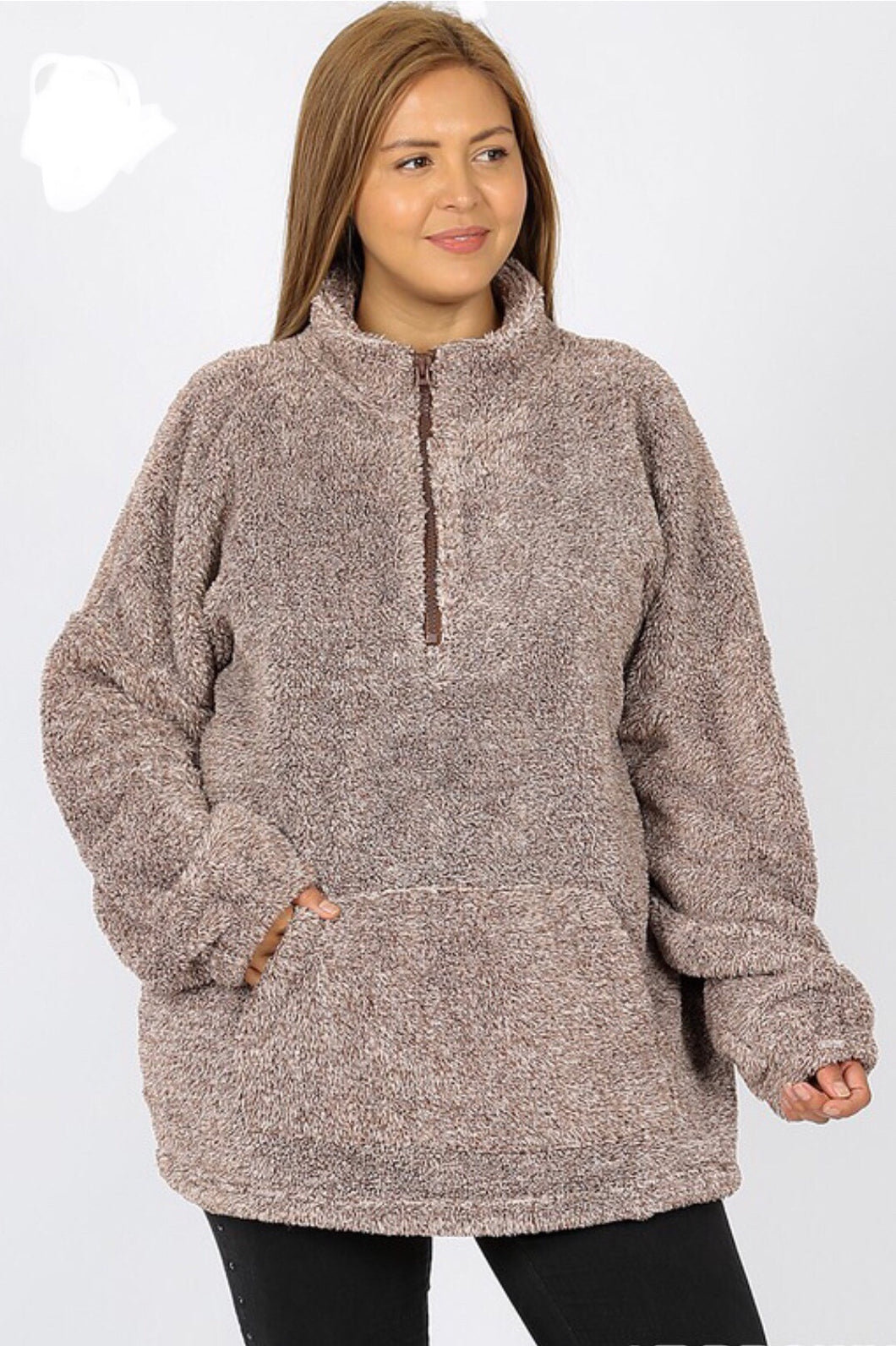 The Adventure Begins Faux Fur Pullover