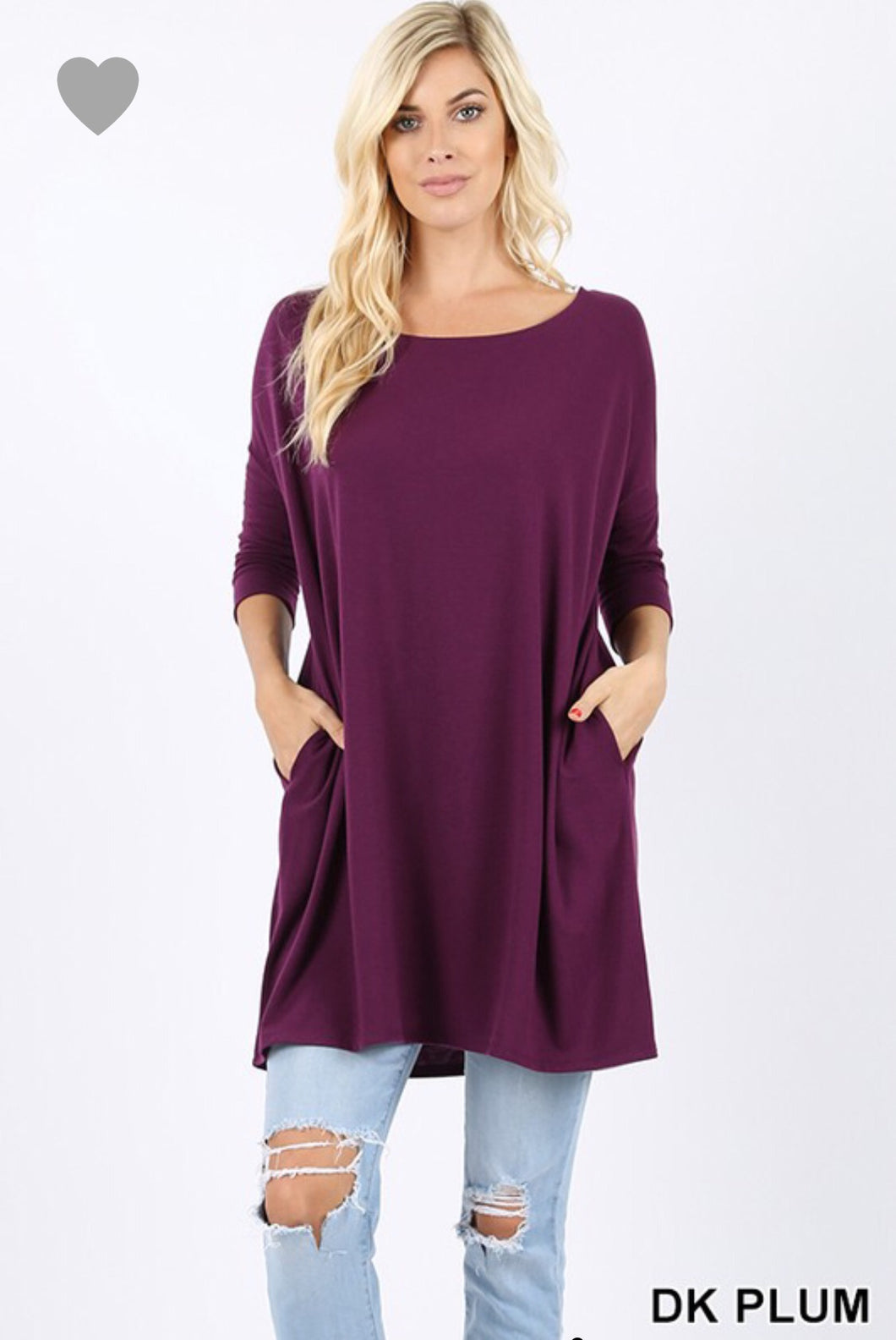 Plum Pretty Dolman Top