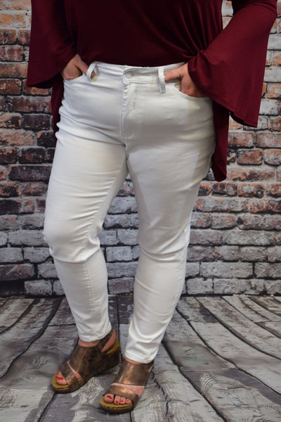 Got the skinny? White Jeans