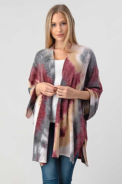 Talk It Over Tie Dye Cardigan