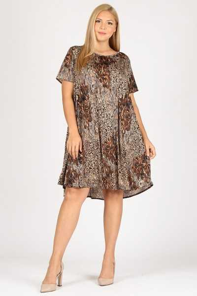 I Feel Good Brown Floral Print XTRA PLUS