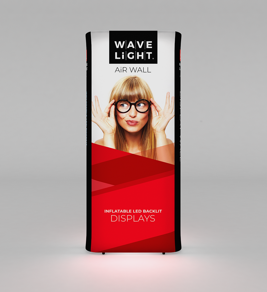 WaveLight Air Wall Inflatable Backlit Display for trade shows and events