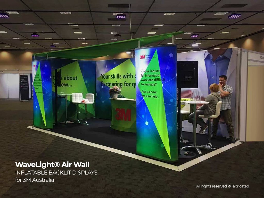 WaveLight Air Wall Inflatable Backlit Display for trade shows and events 3m