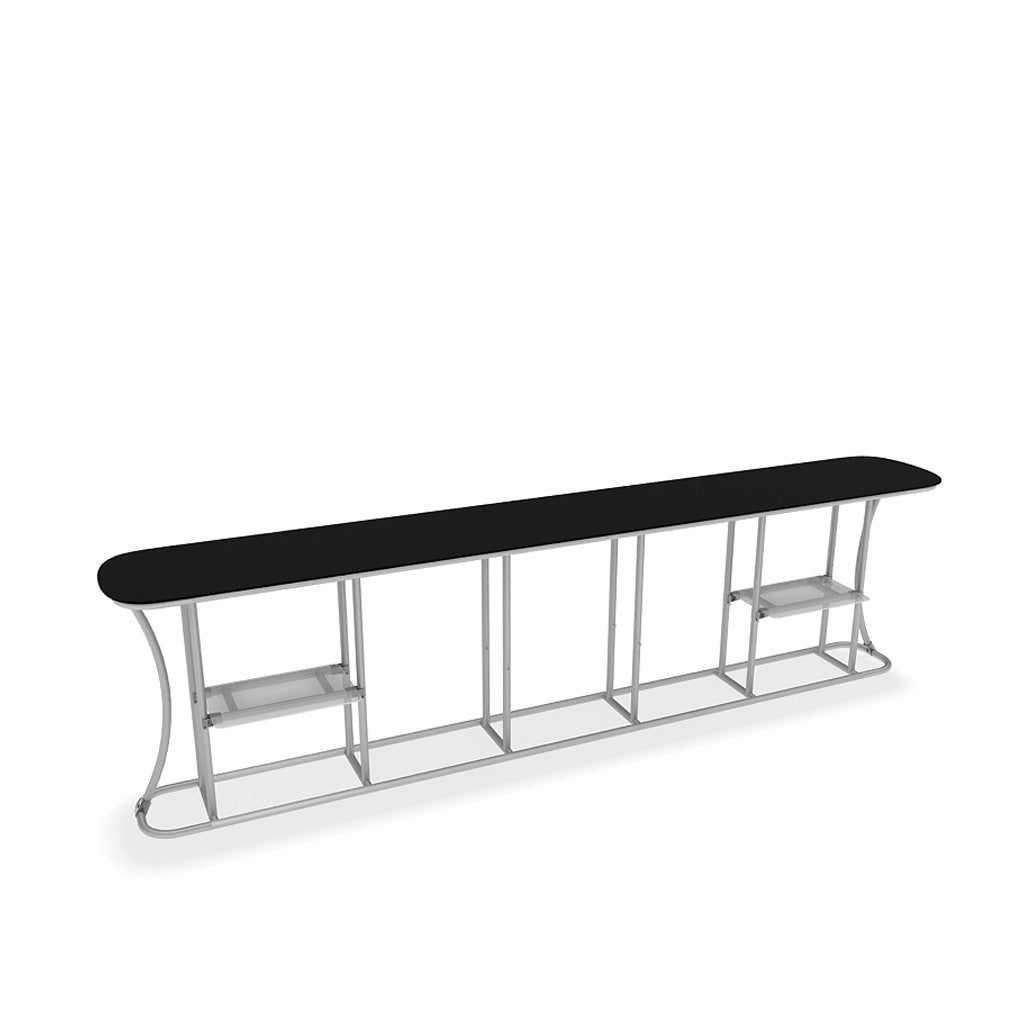 WaveLine InfoDesk Counter and information desk for trade shows and events frame view