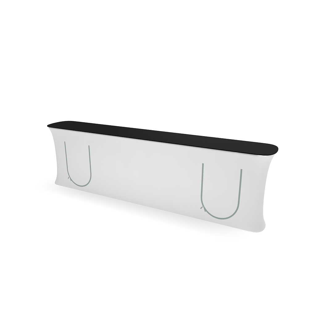 WaveLine InfoDesk Counter and information desk for trade shows and events shelf position