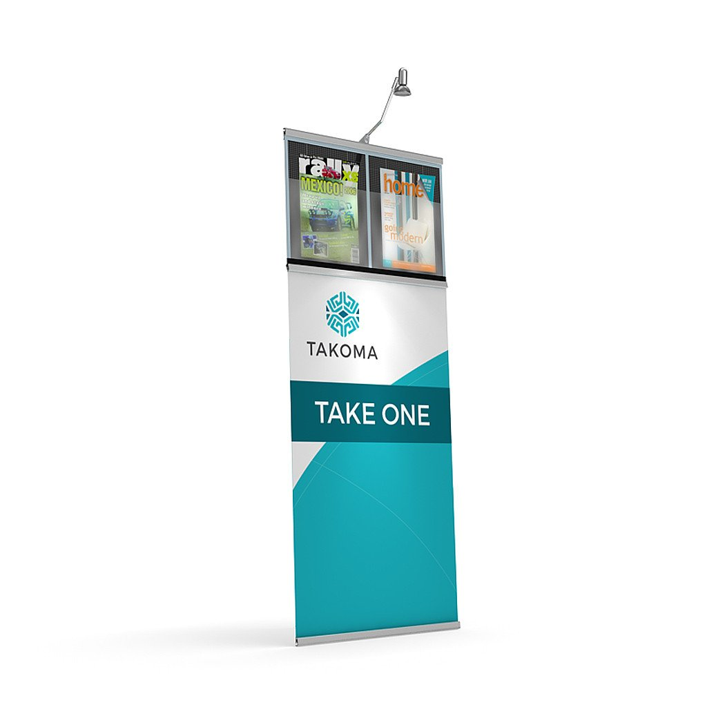 BrandStand DoubleTake Brochure Holder Literature Stand for Trade Shows