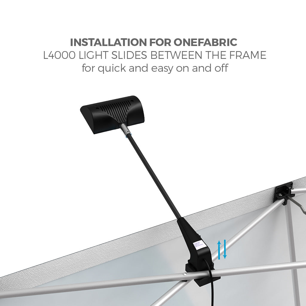BrandStand OneFabric Pop Up Display Led Spotlight