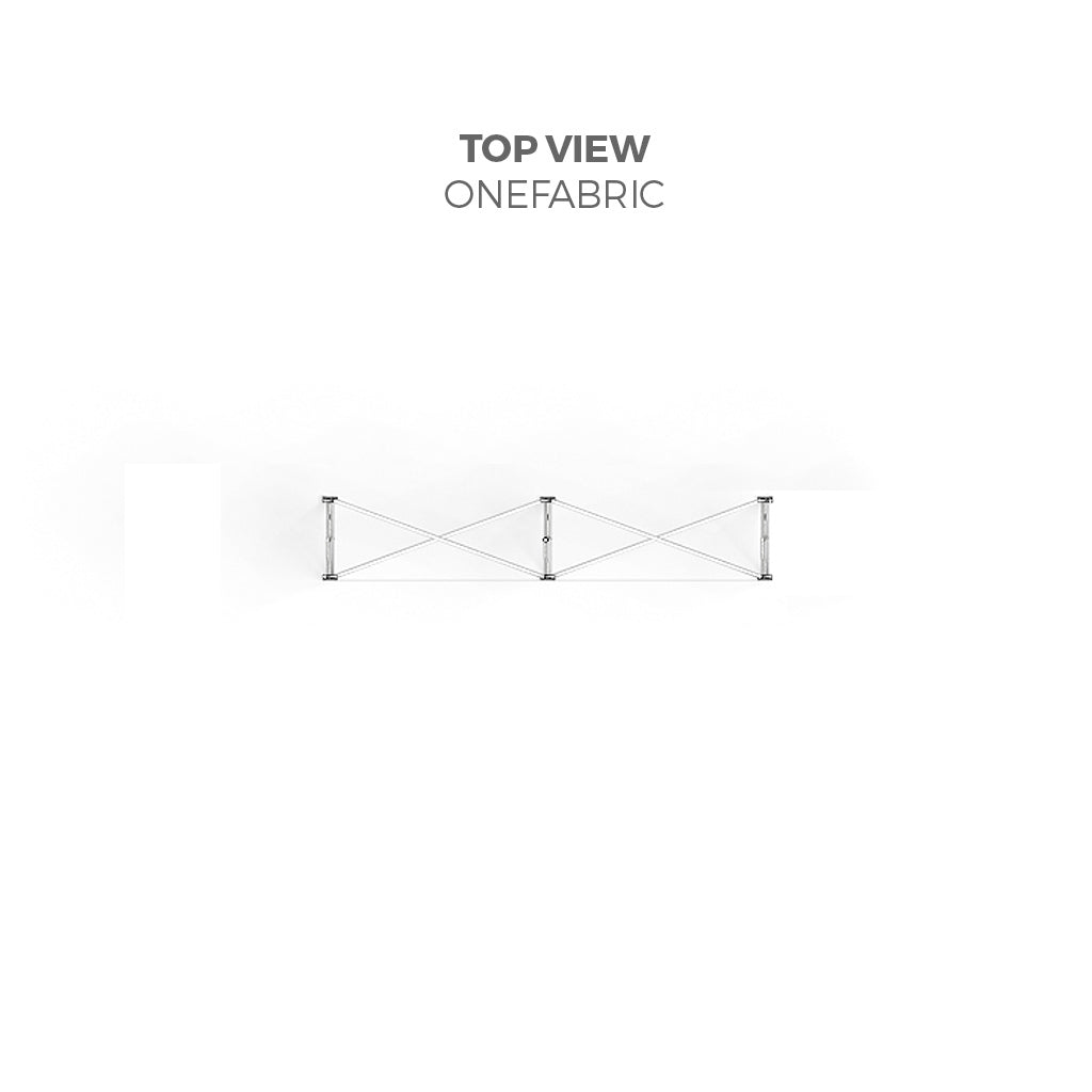 BrandStand OneFabric Pop Up Table Display top view