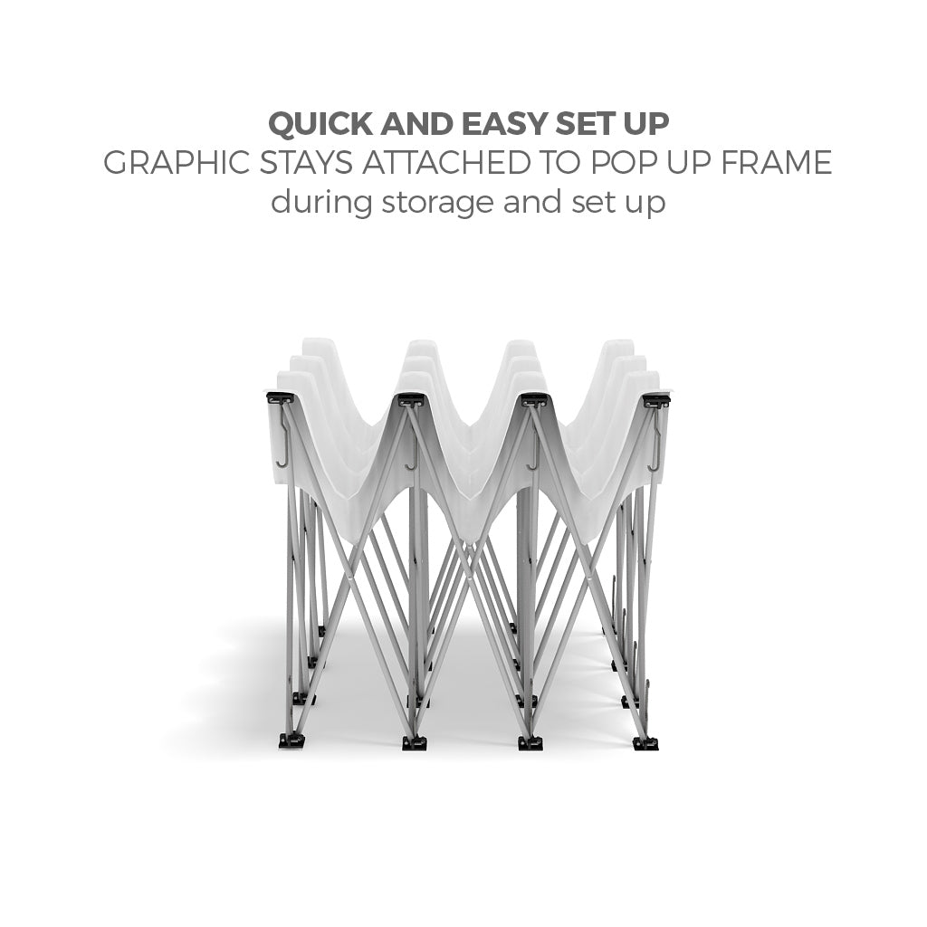 BrandStand OneFabric Pop Up Display lightweight aluminum frame