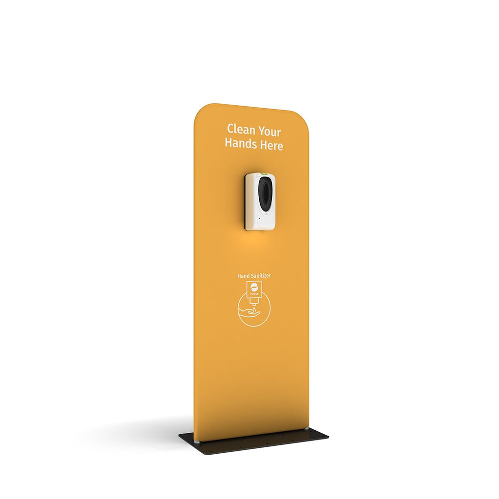 hanz automatic hand sanitizer dispenser with portable stand in yellow