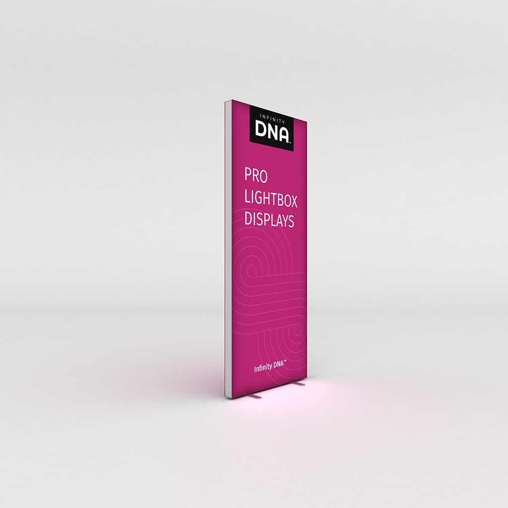 Infinity DNA™ Pro Light Box 950L 3ft Display for exhibits, retail and events.