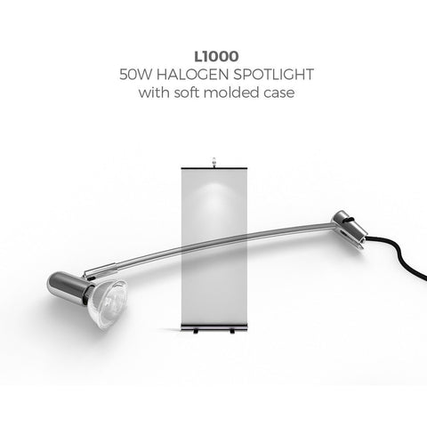 BrandStand L1000 50W Spotlight for Roll ups