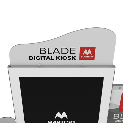Makitso Blade Digital Signage Kiosk with header