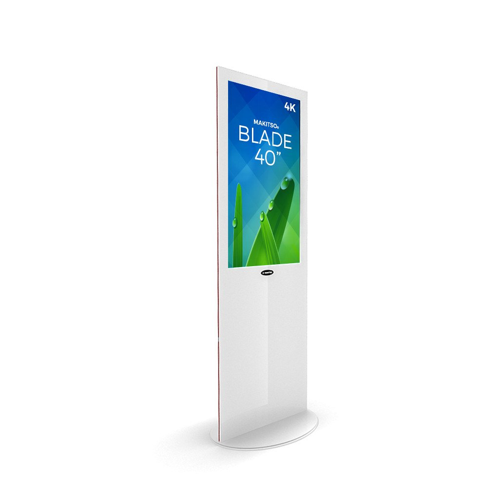 "Makitso Blade 40"" Pro Digital Signage Kiosk in white"