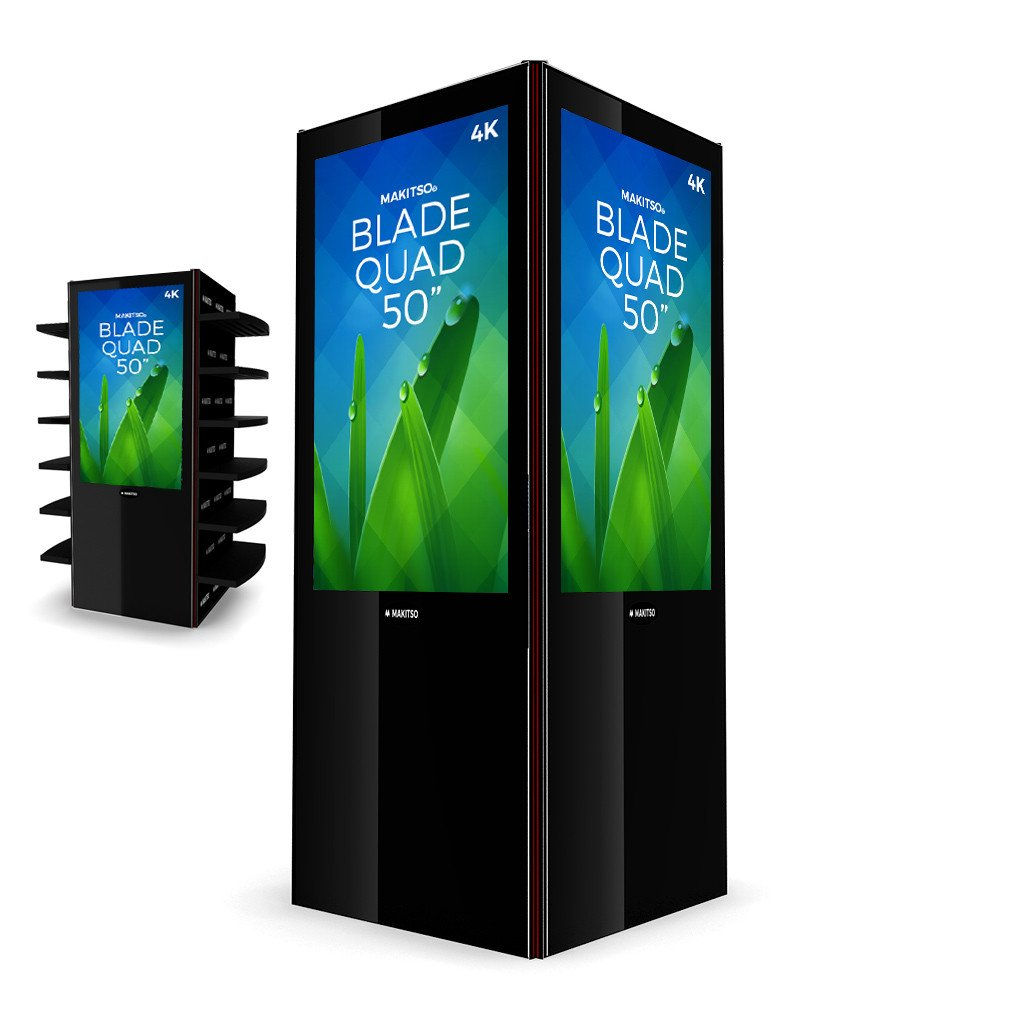 "Makitso Blade Quad 50"" Pro Digital Signage Kiosk black"