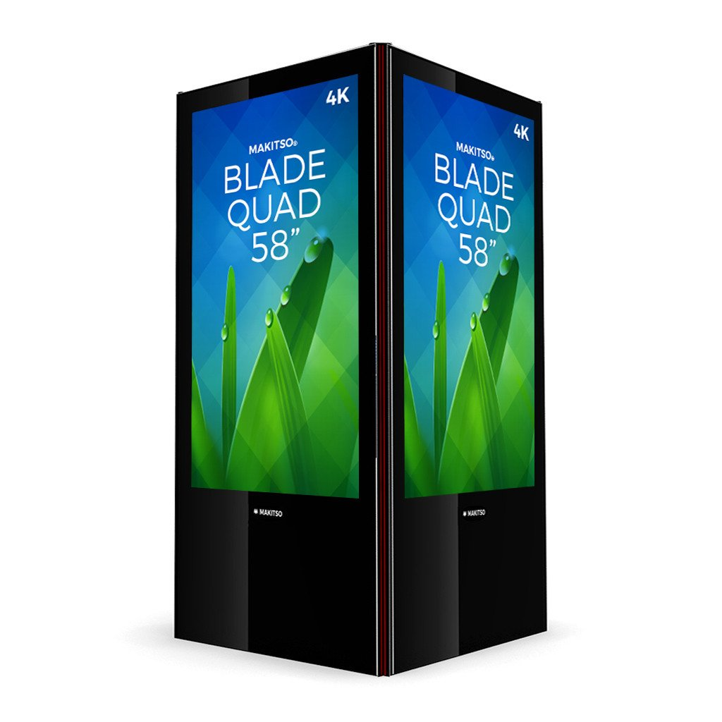 "Makitso Blade Quad 58"" Pro Digital Signage Kiosk black"