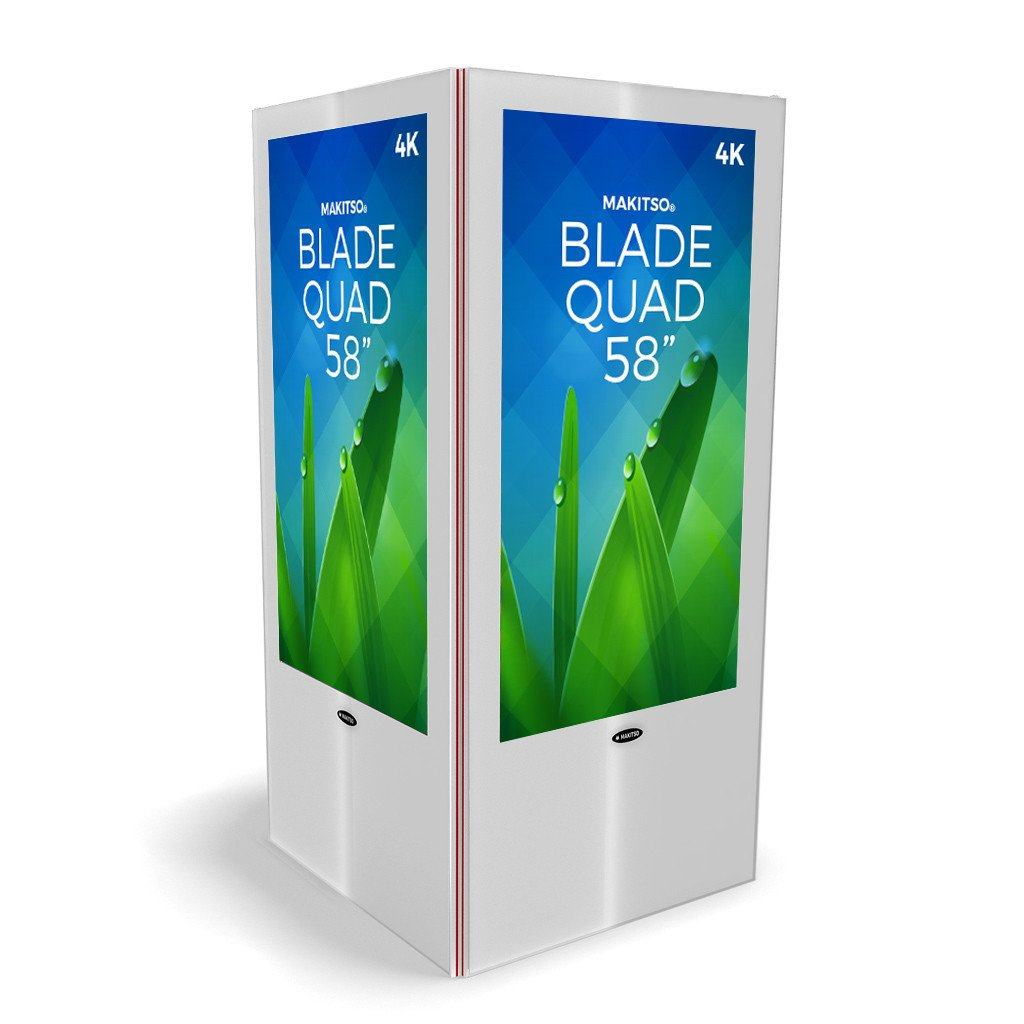 "Makitso Blade Quad 58"" Pro Digital Signage Kiosk white"