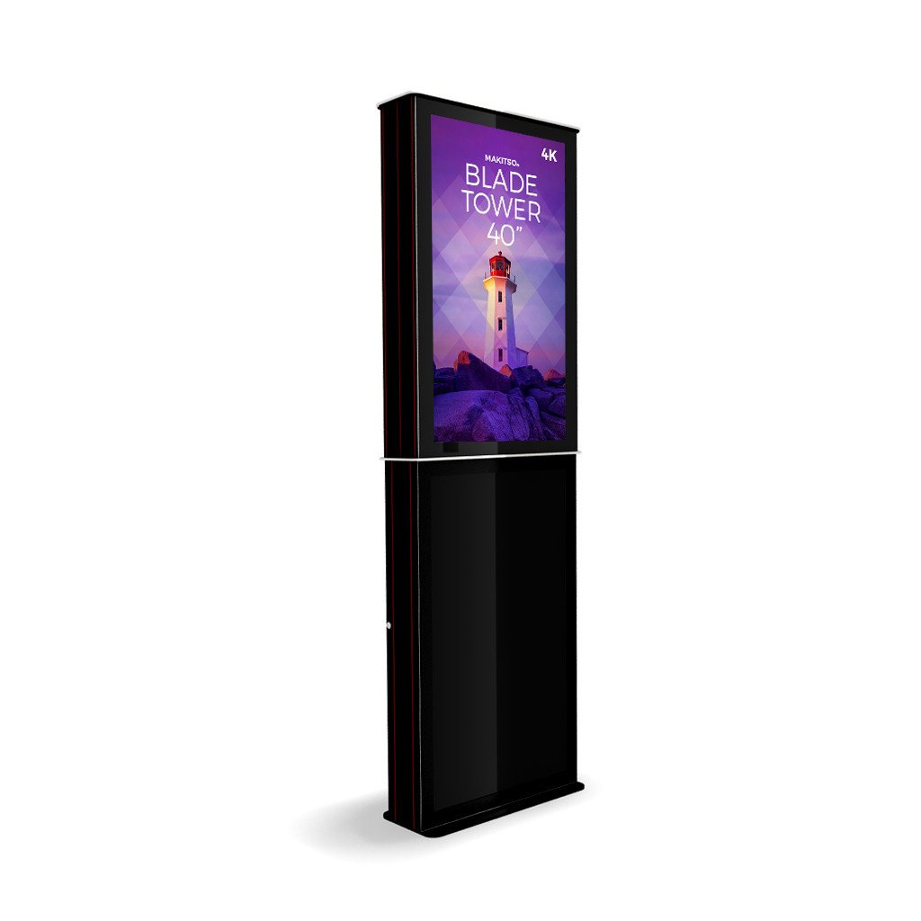 "Makitso Blade Tower 40"" Pro Digital Signage Kiosk in black"