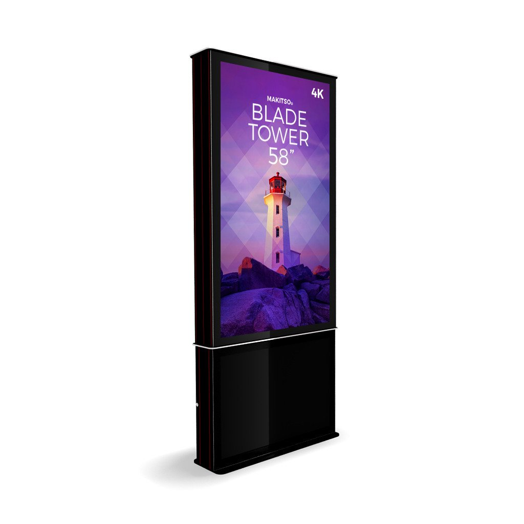 "Makitso Blade Tower 58"" Pro Digital Signage Kiosk in black"