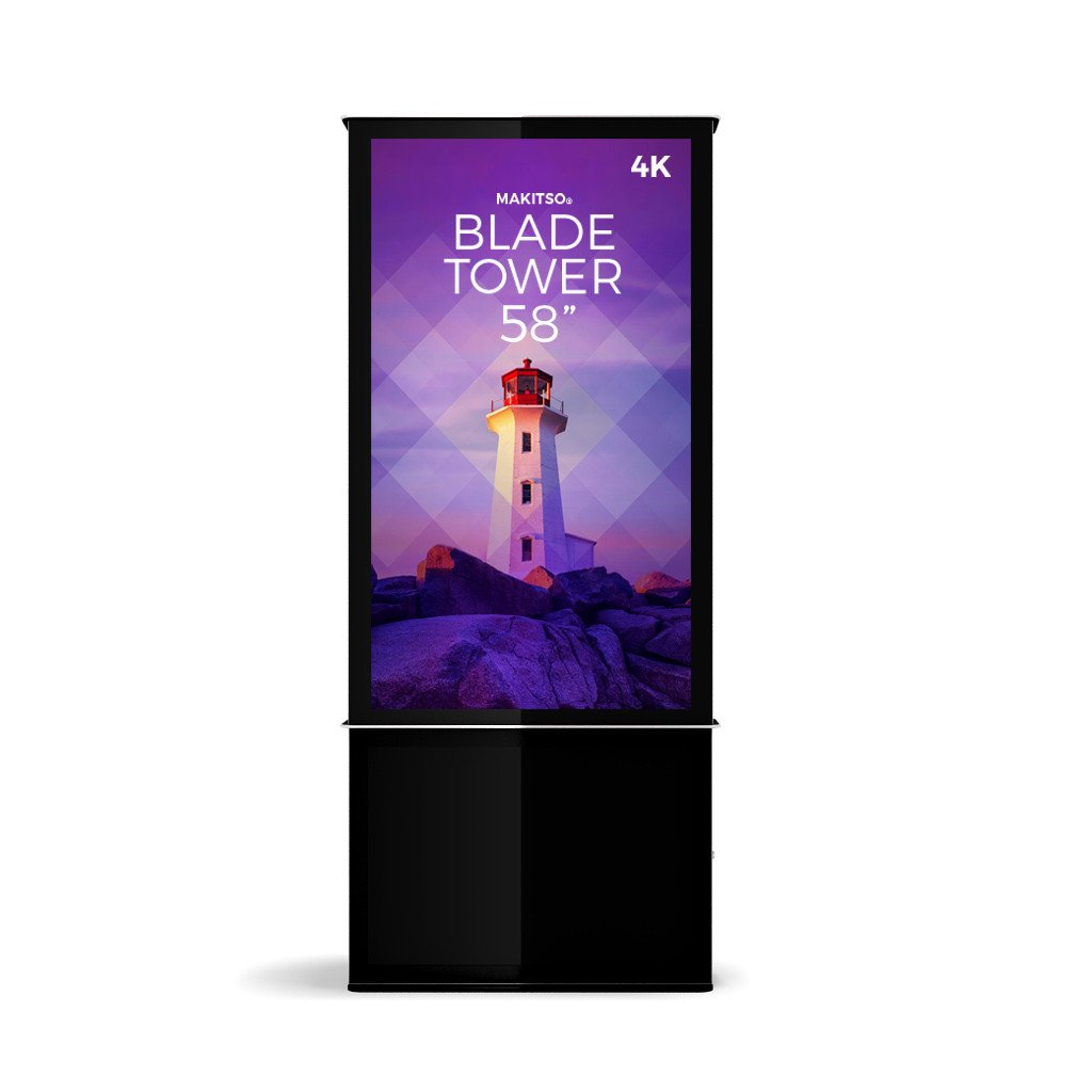 "Makitso Blade Tower 58"" Pro Digital Signage Kiosk"
