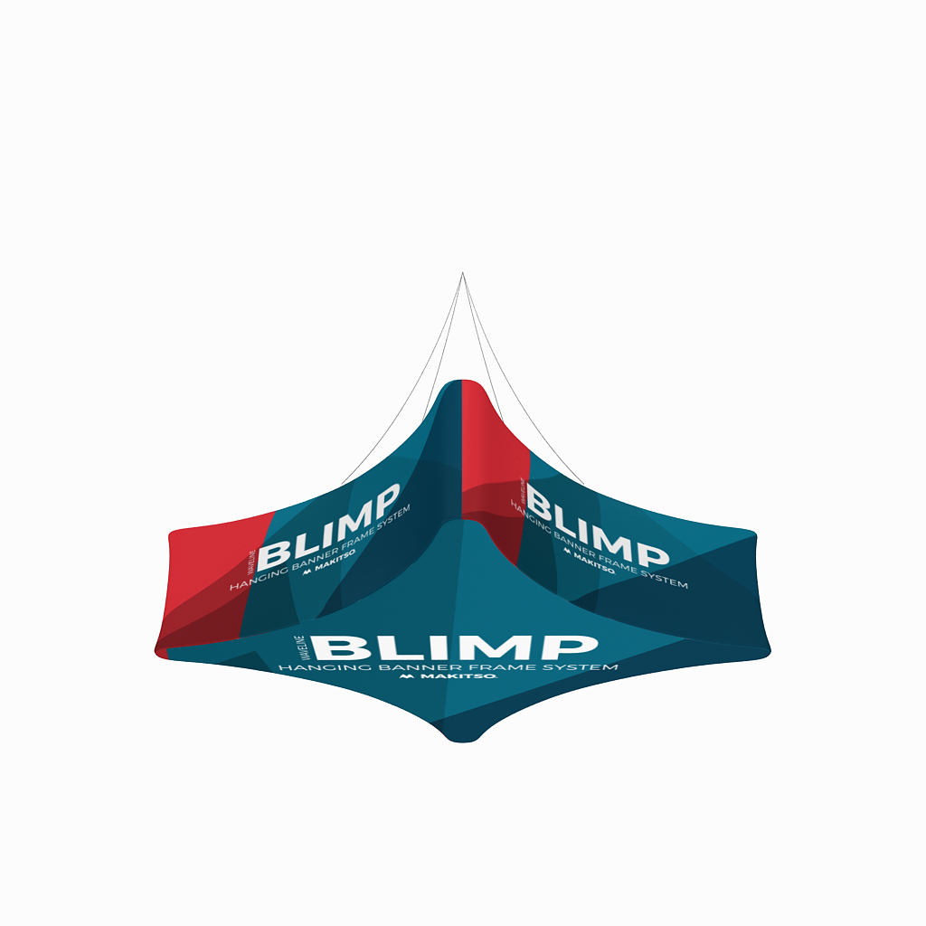 WaveLine Blimp Quad Curved Hanging Banner System