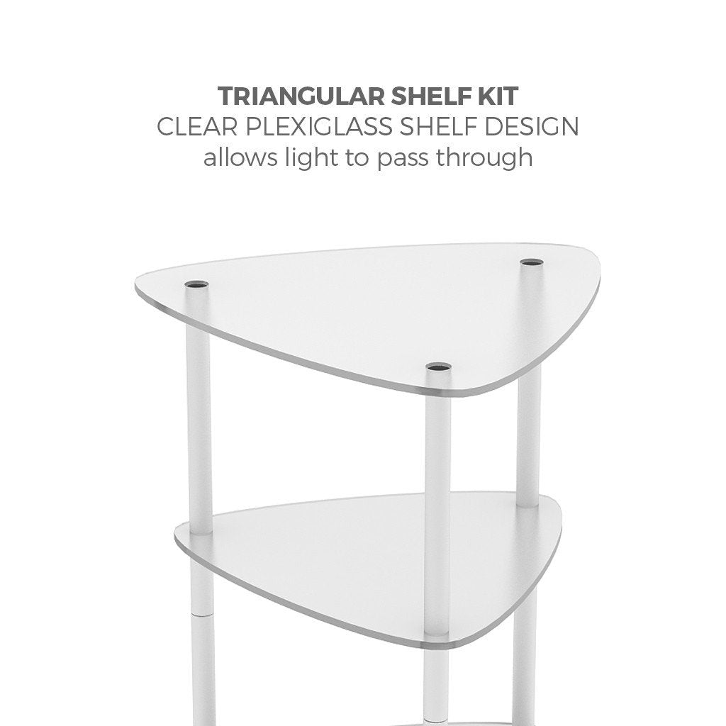Brandcusi Triangular Tower Shelving Kit