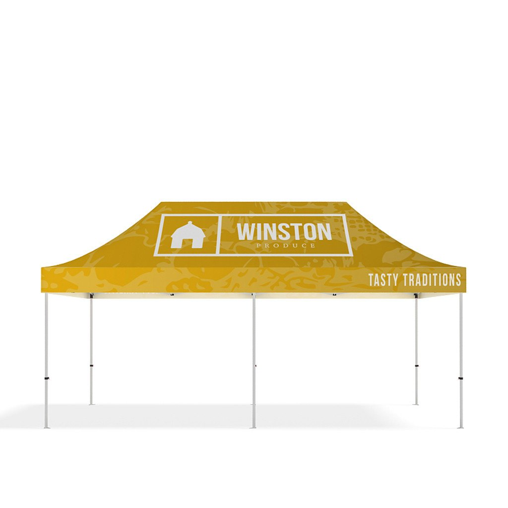 BrandStand® Outdoor Popup Canopy Tent 20ft front view