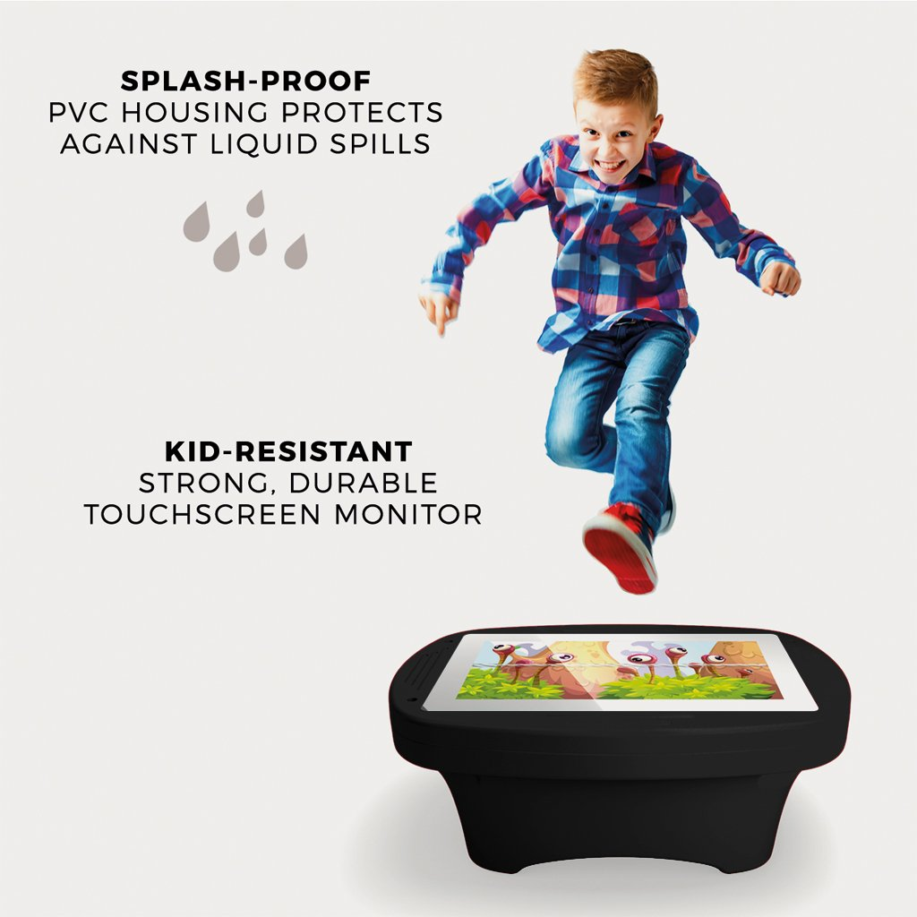 Makitso 4k Interactive Children's Touch Screen Monitor Table Black Durability
