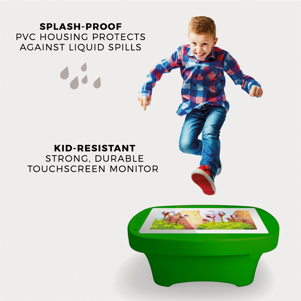 Makitso 4k Interactive Children's Touch Screen Monitor Table Green Durability