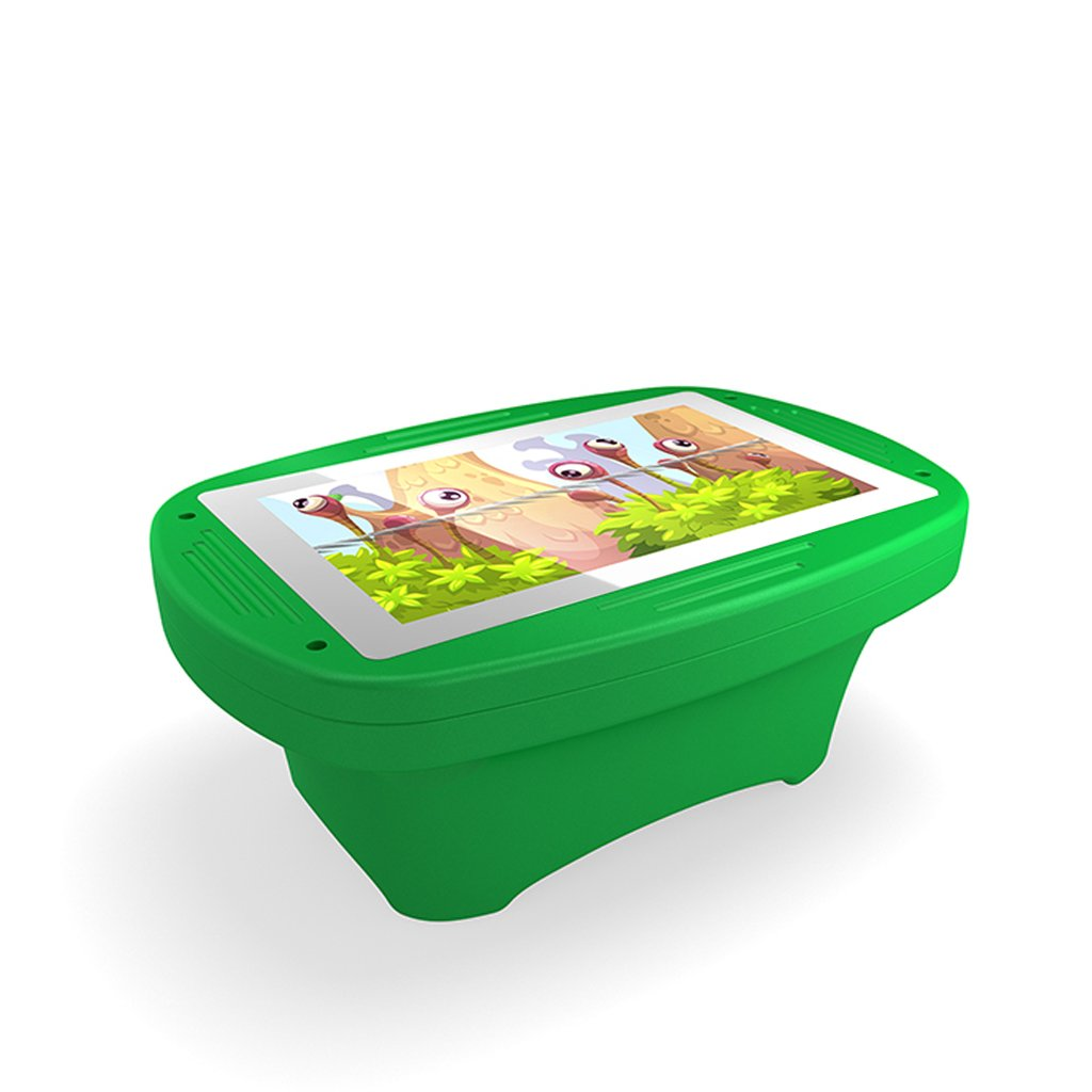 Makitso 4k Interactive Children's Touch Screen Monitor Table Green Side View
