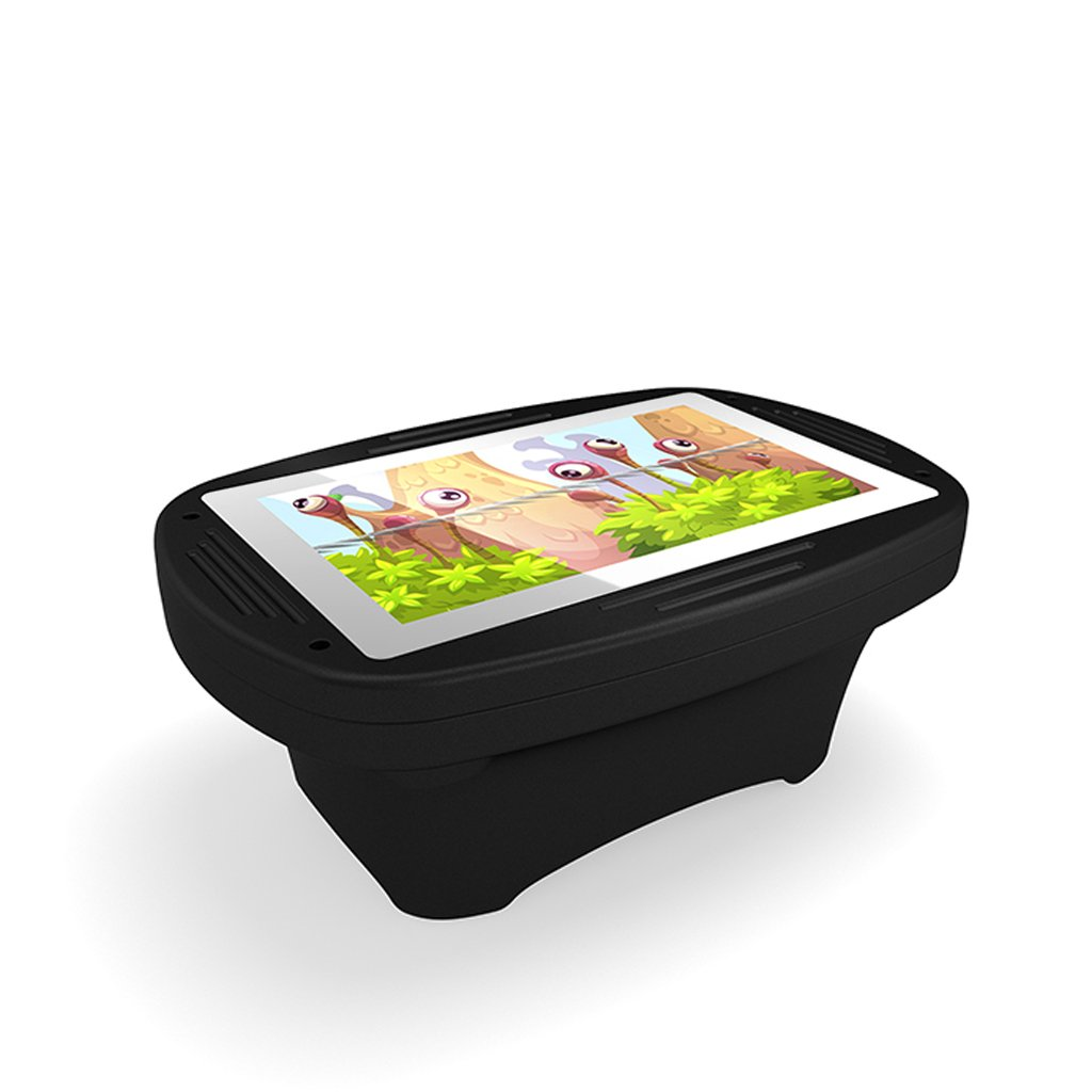 Makitso 4k Interactive Children's Touch Screen Monitor Table Black Side angle