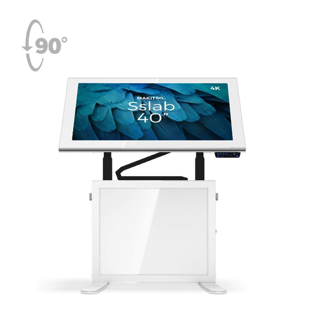 "Makitso Slab 40"" 4K Digital Signage and Table Top Display White"