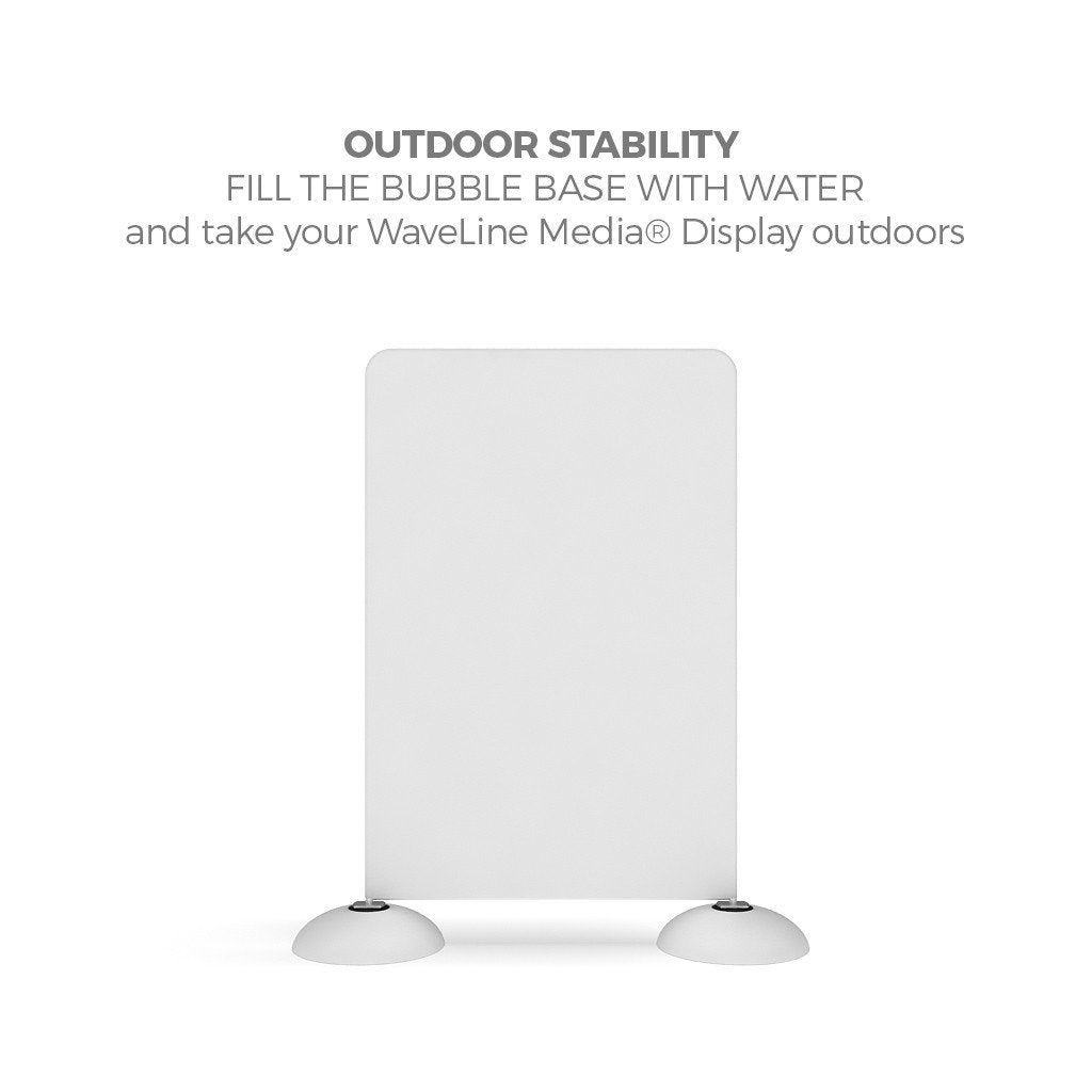 WaveLine Mediaå¨ Bubble Base for outdoor use double-sided