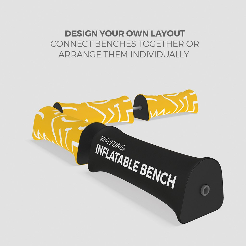 WaveLine® Inflatable Bench Promotional Printed Event Seating Configuration of 4