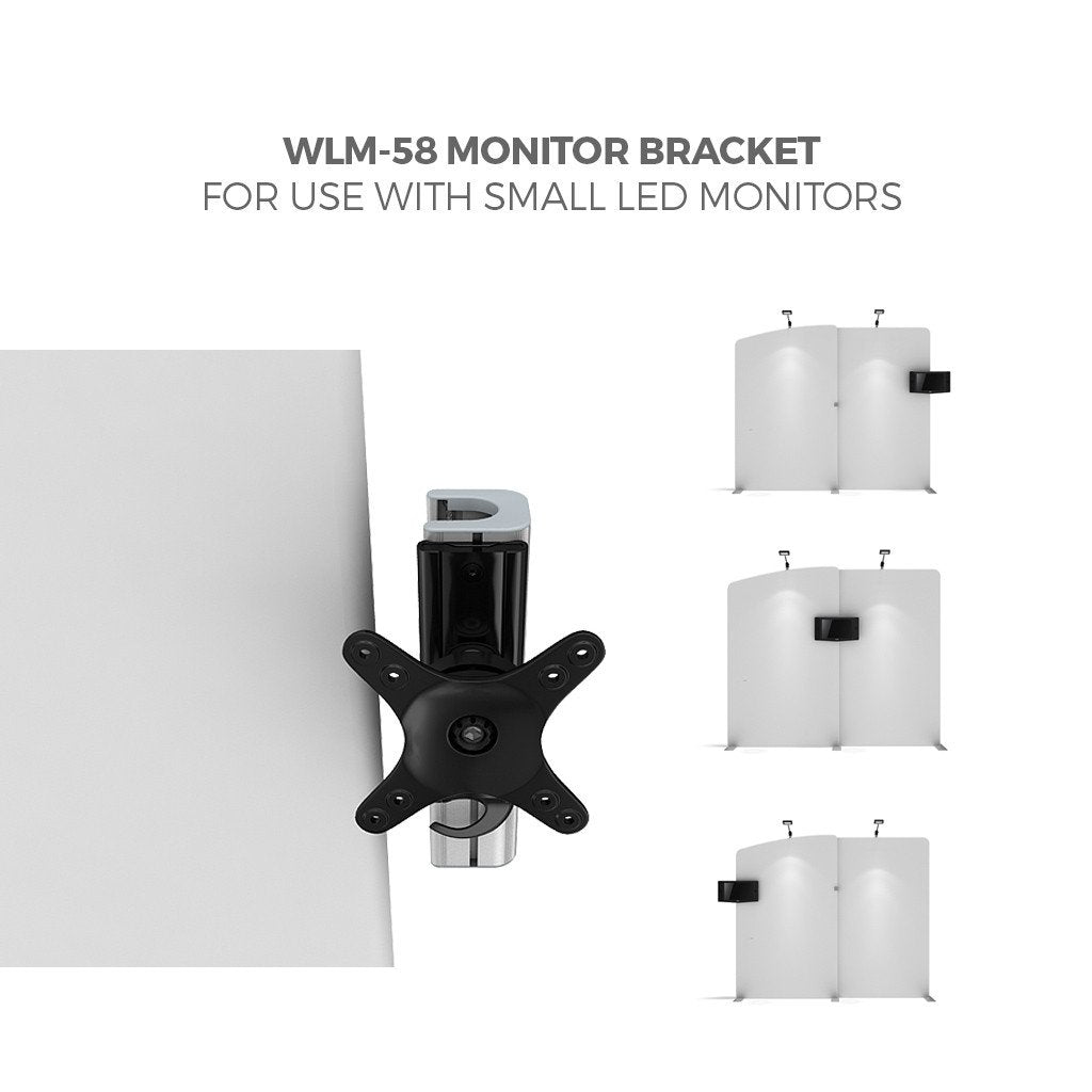 BrandStand WLM-58 Monitor Bracket for WavelineMedia Tension Fabric Displays