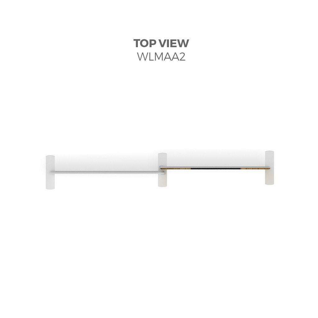 BrandStand WLMAA2 Waveline Tension Fabric Display Kit top view