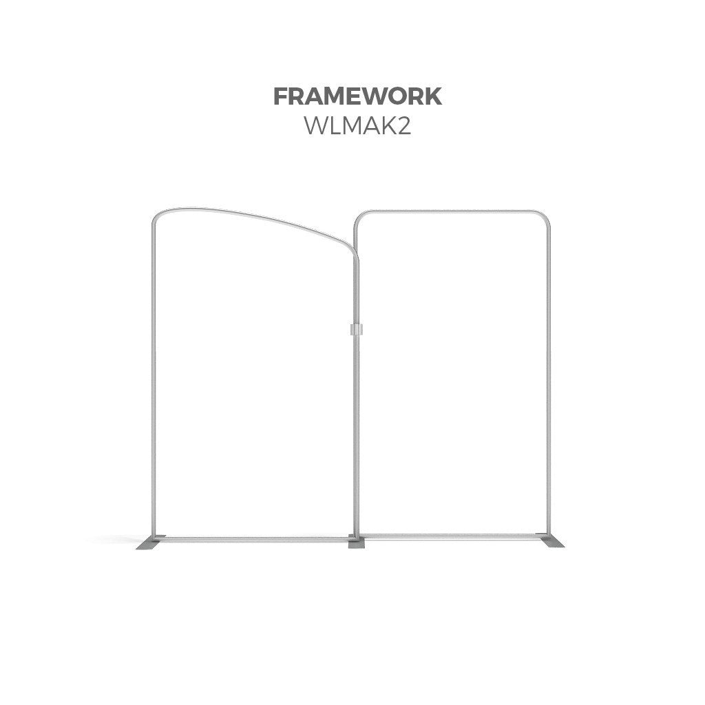 BrandStand WLMAK2 WavelineMedia Tension Fabric Display Kit framework